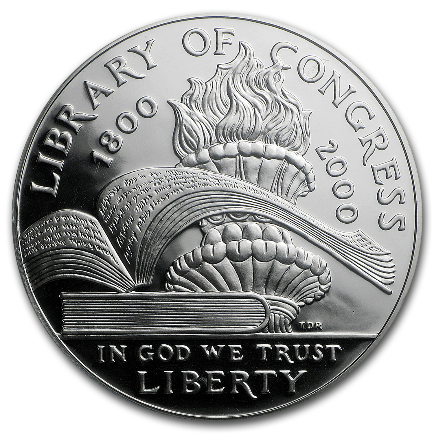 2000-P Library of Congress $1 Silver Commem PR-70 DCAM PCGS